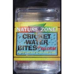Water source for crickets to eat without all the mess.