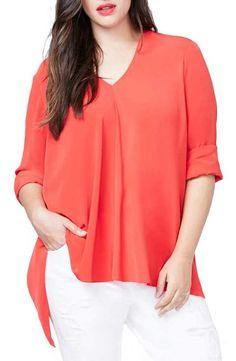 Rachel Roy Side Drape Top (Plus Size)