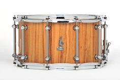 14 x 8 BRADY Wandoo Block snare drum (Natural satin finish).
