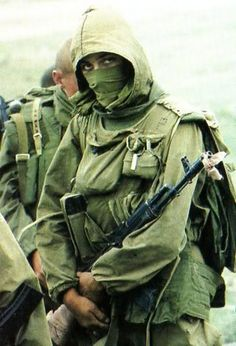 """flyingwithrabidturtles: """" """" Spetsnaz GRU soldiers in Chechnya. Military Gear, Military History, Spetsnaz Gru, Man 2, Military Special Forces, Rangers, Afghanistan War, Military Pictures, Special Ops"""
