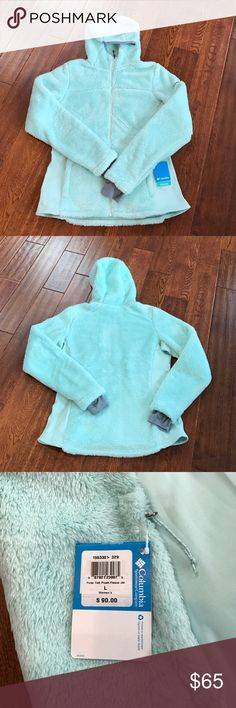 NTW Columbia Polar Yeti Plush Fleece Jacket SZ L! New with tags-Columbia Polar Yeti Plush Fleece Jacket with Omni-wick technology in mint green. Super soft & cozy! Sleeves have thumb-holes for extra warmth. Columbia Jackets & Coats