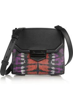 Alexander Wang | Marion Prisma Skeletal lizard-effect leather shoulder bag | NET-A-PORTER.COM