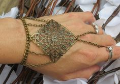 Victorian Filigree Slave Bracelet Ring by TheMysticalOasisGlow