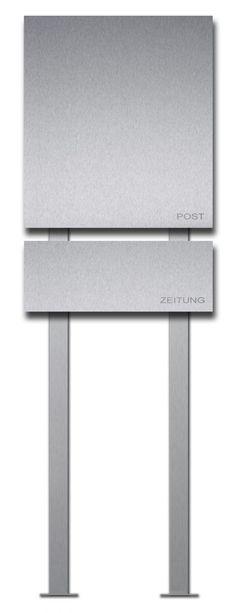 Briefkasten Edelstahl Zeitungsbox freistehend - Vorschau 2