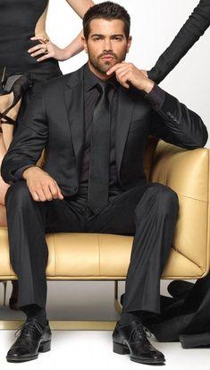 Black Suit Black Shirt, All Black Outfit, Black Suits, Men In Black, Indian Men Fashion, Mens Fashion Suits, Mens Suits, Sharp Dressed Man, Well Dressed Men