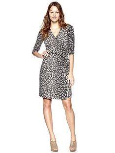 Leopard Wrap Dress (Leopard Print). Gap. $69.95
