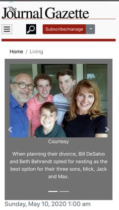 I was interviewed - along with my ex and our oldest son - for this lovely article in the Fort Wayne Journal Gazette. Coparenting, Getting Divorced, After Divorce, Three Boys, Great Quotes, Trauma, Nest, Sons, Interview