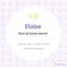 Baby Name: Eloise