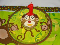 Monkey Cupcake for a Jungle Party - A customer sent us this picture of an adorable monkey cupcake for a Jungle Animal party! Find more Jungle Animal Birthday Ideas at http://www.birthdayinabox.com/party-themes/all-parties/monkey-around.html