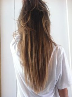 straight ombre hair. Perfect blonde placement