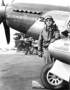 """North America P-51D-10-NA, s/n 44-14111, PE-X, """"Straw Boss 2 - Little Sandra"""", HQ Unit, 352nd Fighter Group, pilot Lt. Col. James D. Mayden. Chievres (A-84), Belgium, March- April 1945."""