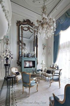 Stunning french country living room decor ideas (41)