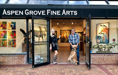 My New Original Collection is now available at Aspen Grove Fine Arts in beautiful Aspen, CO! Swing in today and visit Robert - & Aspen🐾- the gallery's furry greeter! Cow Art, Colorful Animals, Wildlife Art, Park City, Aspen, Wyoming, Galleries, Fine Art Prints, Original Paintings