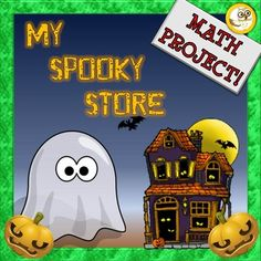 Math Project My Spooky Store. This Math Project is a spooky and fun way to practice a variety of math skills in a real world context! Students will work through area, graphing and money. It can be used any time of the year, but what better time to use it than around Halloween!In your download you will receive a printable workbook that you will simply need to photocopy, staple into a workbook for each student and you're ready to go!