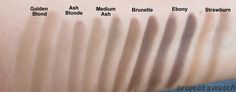 anastasia brow powder duo swatches - by project swatch