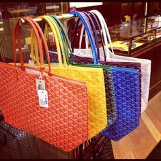 Goyard bags in Paris! #bagsandpurses