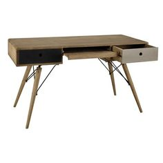 Solid mango wood vintage desk W 137cm