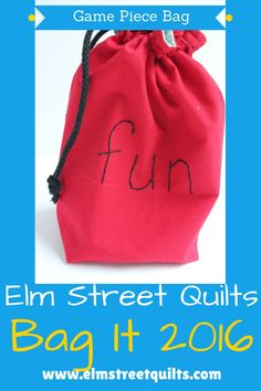 Elm street quilts game piece bag tutorial make from patchwork or a elm street quilts game piece bag tutorial solutioingenieria Gallery