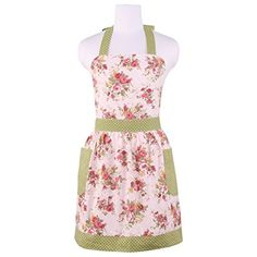 Ukrainian Embroidery Style Rose Apron Funny Bib Aprons For Men Women Kitchen Baking Cooking Apron
