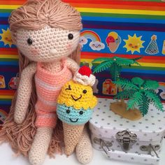 Mijn gehaakte pop my crochetdoll bathingsuit badpak mani di Anne/Annemarie Evers