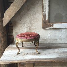 Victorian foot stool by SaffronColoredPony on Etsy