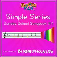 """A pdf Sunday School """"songbook"""" with 11 songs, color coded for use with Boomwhackers. Songs included: God Is So Good, Jesus Loves Me, The B-I-B-L-E. Sunday School Songs, Sunday School Classroom, Swing Low Sweet Chariot, Music Education, Music Class, All Songs, Light Of The World, Jesus Loves Me, Jesus Quotes"""