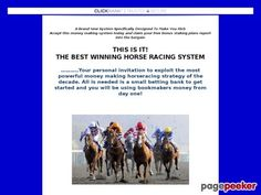 awesome Best Winning Horse Racing System