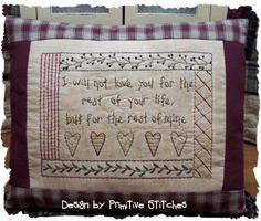 Rest Of My LifePrimitive Stitchery Pattern by PrimitiveStitches, $2.50