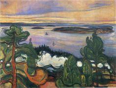 Train smoke - Edvard Munch