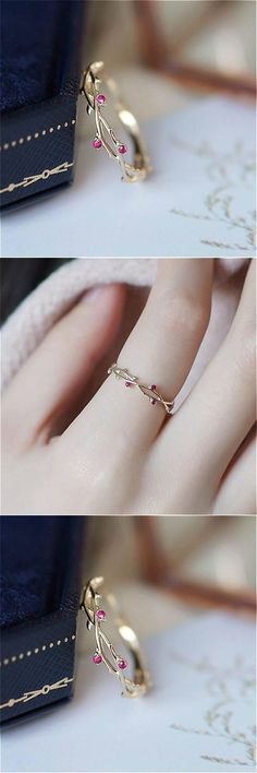 Add a touch of class and elegance to any outfit with this beautiful Dainty Vines ring. It gives you the opportunity to highlight your character and personality. , Dainty Vines Ring , Beautiful Rings Source by… Continue Reading → Dainty Ring, Dainty Jewelry, Cute Jewelry, Jewelry Gifts, Jewelry Accessories, Jewelry Design, Jewellery, Jewelry Box, Jewelry Making