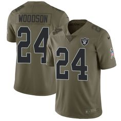 b7e99da02bc Men's Oakland Raiders Charles Woodson Olive 2017 Salute To Service Stitched  NFL Nike Limited Jersey