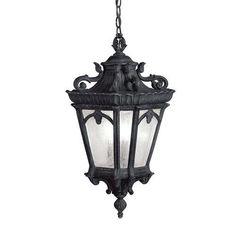 Kichler Tournai 3 Light Outdoor Pendant - Black