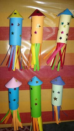 Diwali rocket art - the best waste - Pipe Cleaner Craft Butterfly Diwali Craft For Children, Diy For Kids, Crafts For Kids, Daycare Crafts, Fireworks Craft For Kids, Fireworks Art, Christmas Lanterns, Christmas Diy, Diwali Activities