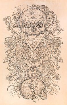 Punctured Artefact Custom Tattoo leather design. Geometric ink. Blog