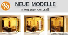 Neue Modelle in unserem Sauna Outlet   http://saunaking.at/newsletter/2015/1/