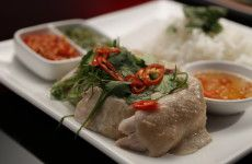 Ashlee and Sophia Hainan chicken with three sauces