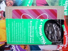 For Kids- Gift Card Holders- Girl Scout Cookies- Repurposed Cardboard Packaging- Set of 6. $12.00, via Etsy.