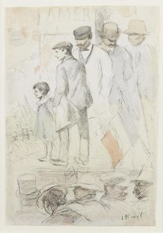 Lev Samoilovich Bakst (Leon Bakst) (Russian, 1866-1924) Street event