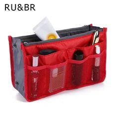 RU 및 BR 여성 및 소녀 다기능 고체 화장품 가방 지퍼 가방 스토리지 가방 작은