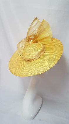 MBM1033 – Millinery By Mel Yellow Boater