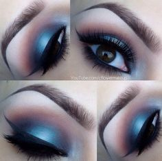 Strikingly Alluring Blue  Pink Chromatic #Eyeshadow