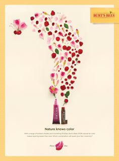 """Burt's Bees: """"Butterfly Rose"""" Print Ad by Baldwin& Ads Creative, Creative Advertising, Creative Words, Wine Advertising, Advertising Design, Advertising Ideas, Burts Bees, Burt's Bees Ad, Chinese Posters"""