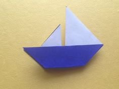 Origami Easy Boat Origami For Beginner Mais Crafts For Kids, Arts And Crafts, Paper Crafts, Diy Crafts, Origami Boat, Origami Paper, Useful Origami, Origami Easy, Visual Art Lessons