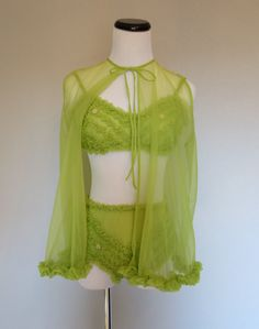 1960s nighty set with ruffles.