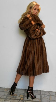 mink furs - pastel saga mink fur long trench coat with hood & belt ...