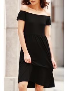 SHARE & Get it FREE | Solid Color Off The Shoulder Short Sleeve DressFor Fashion Lovers only:80,000+ Items • New Arrivals Daily Join Zaful: Get YOUR $50 NOW!