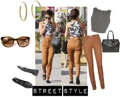 """Street Style Inspired by Selena Gomez"" by branwen123 on Polyvore"