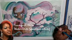 ~WATERCOLOR ILLUSTRATION ~  CHERRY BLOSSOM SPEED PAINTING TRANQUIL BLISS