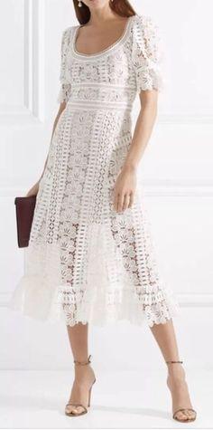 8491bc2ae61 Self-Portrait Lace Dress Midi White Worn Once Self Portrait  fashion   clothing