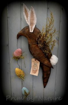 Primitive Easter Bunny Crow